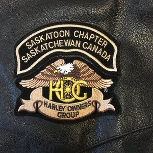 Harley Owners Group Patch Black Leather Vest (2664
